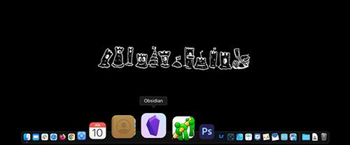 Screenshot App-Auswahl am Mac