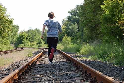 Schnell rennen