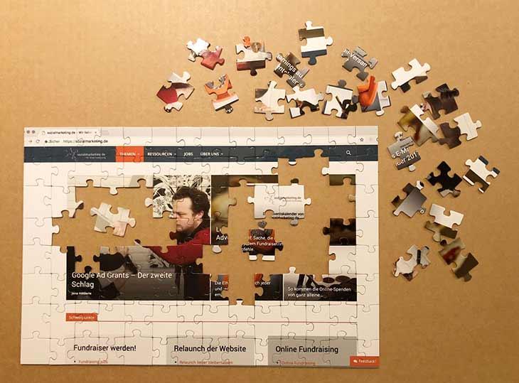 Website Relaunch als Puzzle